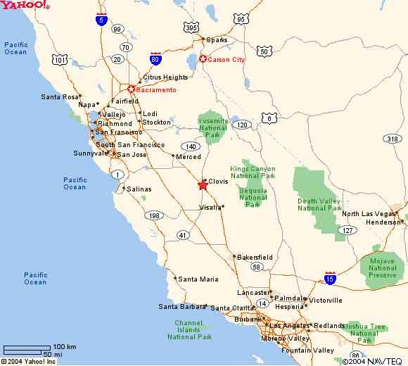 Fresno CA Maps