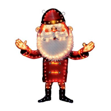 santa illuminated yard art lawn decoration santa illuminated christmas holographic display - Misfit Toys Outdoor Christmas Decorations